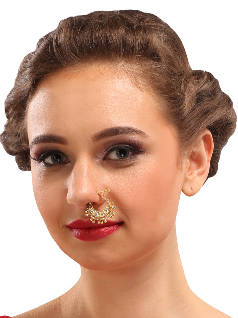 36-Jewellery-design-Gold-Toned-White-Stone-Studded-Nose0Ring