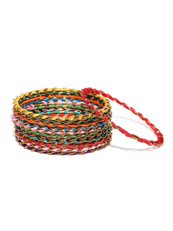 50-jewellery-design-Set-of-12-Multicoloured-Textured-Bangles