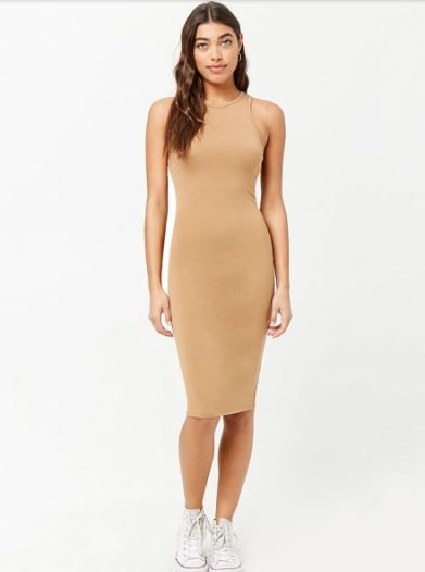10-janhvi-kapoor-Women-Brown-Solid-Bodycon-Dress