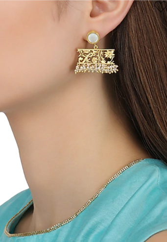 2-jewellery-design-GOLD-PLATED-FILIGREE-MOTHER-OF-PEARL-DROP-EARRINGS