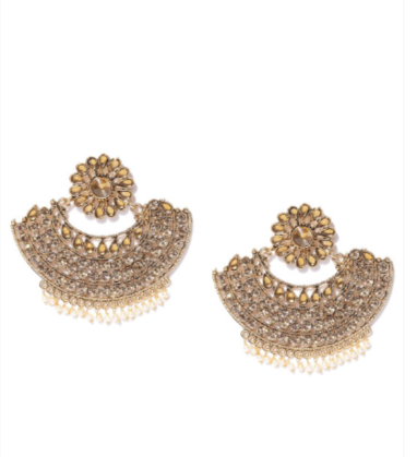5-jewellery-design-Gold-Plated-Crescent-Shaped-Stone-Studded-Chandbalis