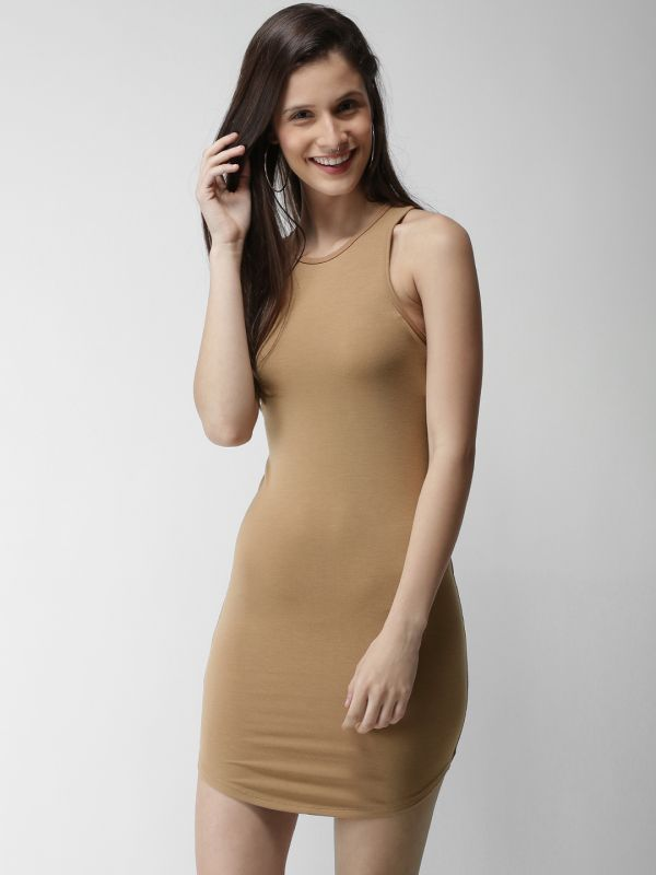 7-janhvi-kapoor-brown-bodycon-dress