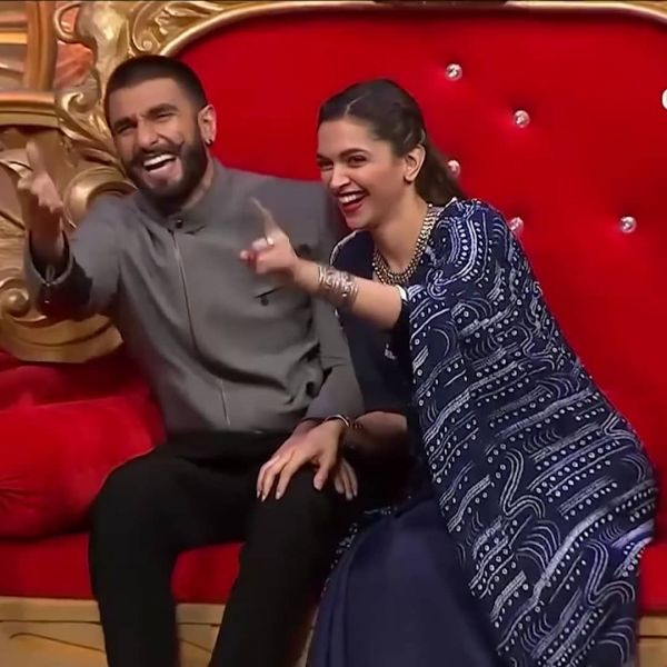 Adorable Pictures Of Deepika And Ranveer- laughing