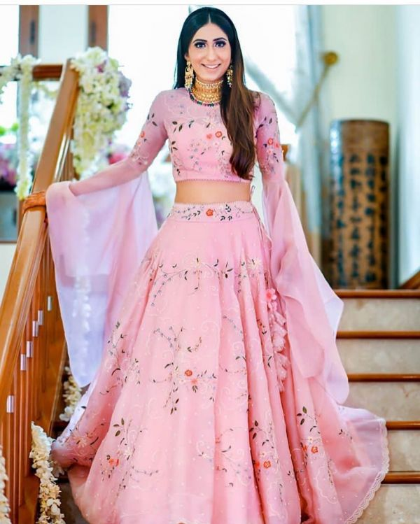 candy colour lehenga 4