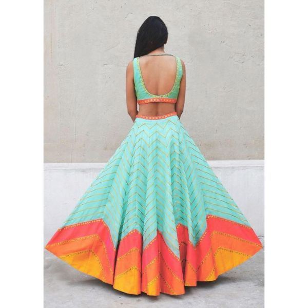candy colour lehenga 5