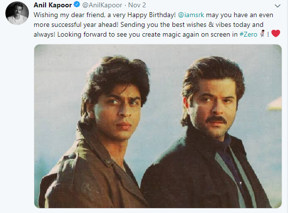 celebrities who wished srk on his birthday - anil kapoor