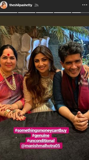 Sushmita Sen And Rohman Shawl At Shilpa Shetty's Diwali Bash- shilpa with Manish malhotra