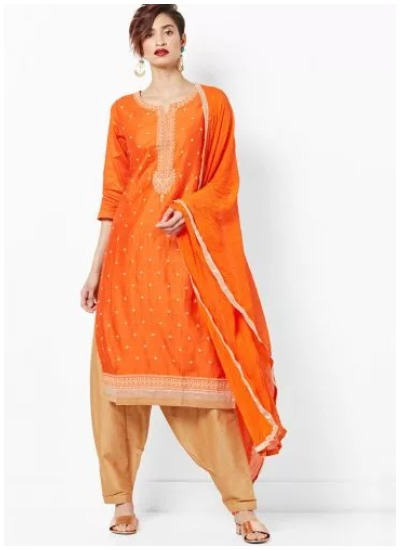 punjabi-orange-suit