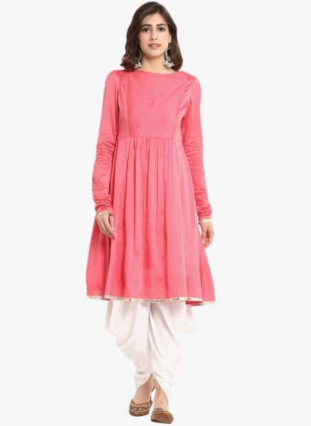 abhishti-pink-suit-with-dhoti-pants-what-to-wear-for-first-lohri-after-wedding