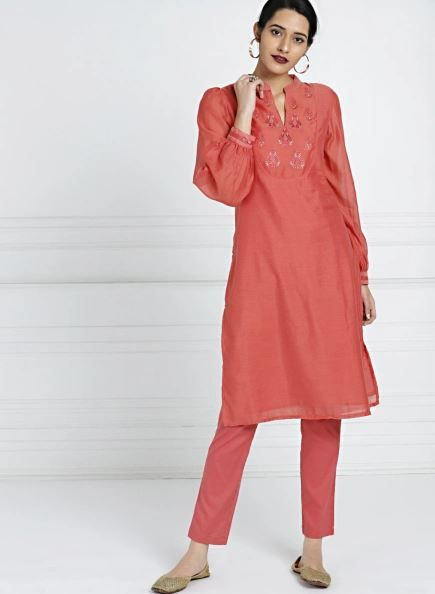 all-about-you-rust-suit-with-pants-what-to-wear-for-first-lohri-after-wedding