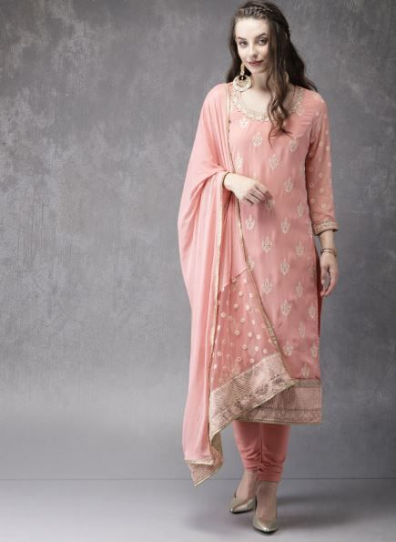 anouk-pink-suit-with-churidar-what-to-wear-for-first-lohri-after-wedding