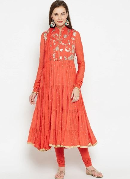 biba-orange-churidar-what-to-wear-for-first-lohri-after-wedding