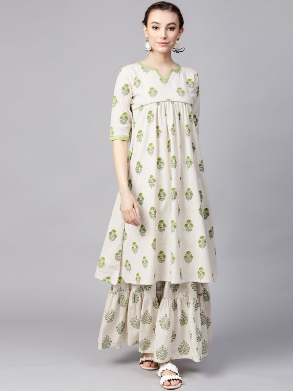 gerua-printed-kurti-skirt-what-to-wear-for-first-lohri-after-wedding