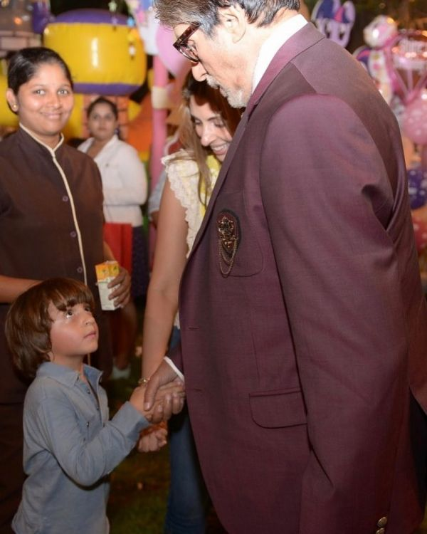 Amitabh-and-abram-birthday -party