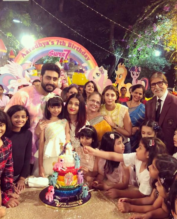 aishwarya-and-daughter-birthday -party
