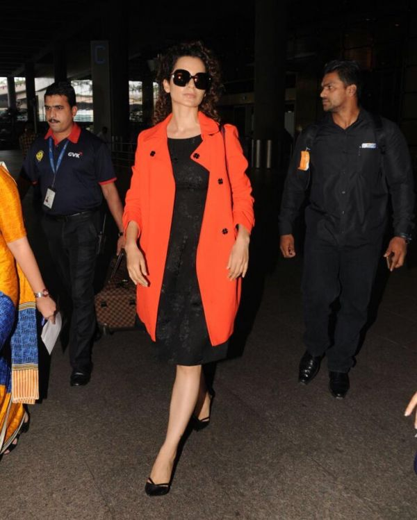Kangana-Ranaut-Spicy-Orange-Trenchcoat
