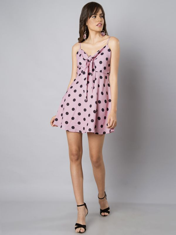 14-stylish-dresses-Pink-Printed-Fit-and-Flare-Dress
