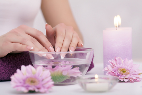 how to remove acrylic nails dip in warm water