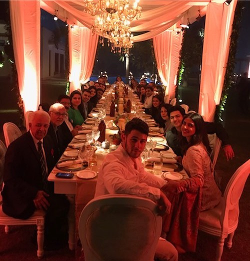Priyanka And Nick Jonas Throw A Party For Sophie Turner and Joe Jonas - thanksgiving dinner