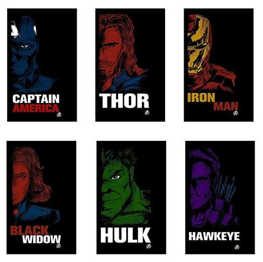 Birthday gifts for younger brother- Superhero posters