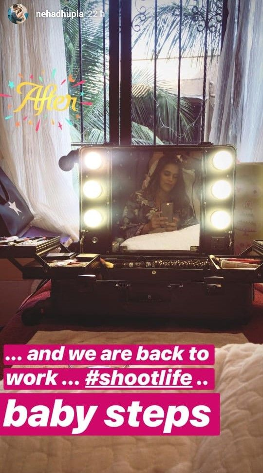 1-Neha-Dhupia-goes-back-to-work-insta-story-1