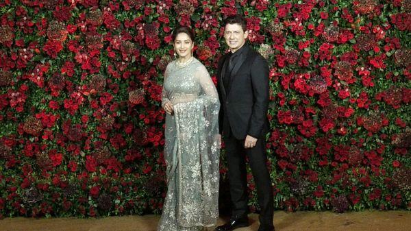 Bollywood celebs at deepveer reception - madhuri dixit nene