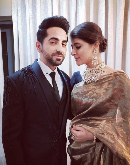 3 Ayushmann khurrana and tahira kashyap at deepveer's wedding reception