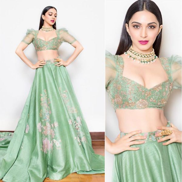 best-lehengas-2018-kiara-advani-sea-green