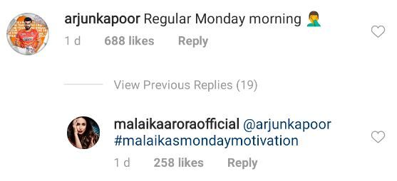 Malaika Arora Monday motivation Instagram banter