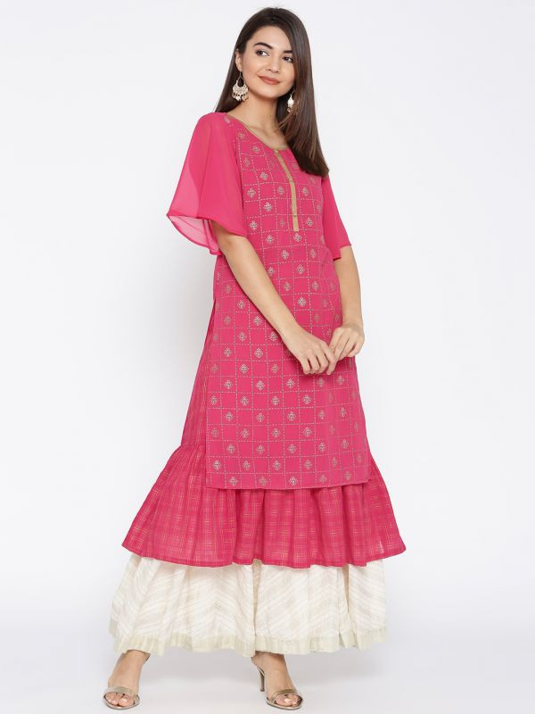 15-neck-designs-for-kurtis-Layered-Kurti