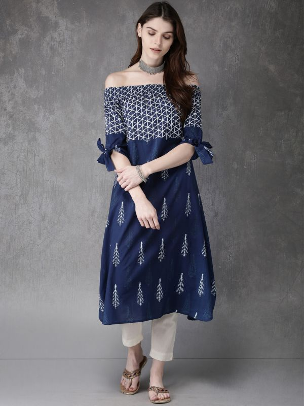 22-neck-designs-for-kurtis-Off-shoulder-Neck