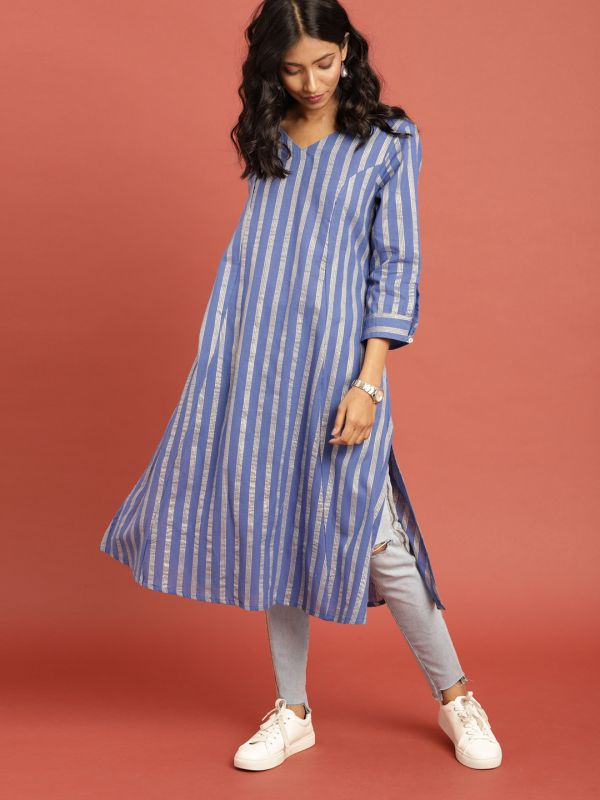 6-neck-designs-for-kurtis-A-line-Kurti