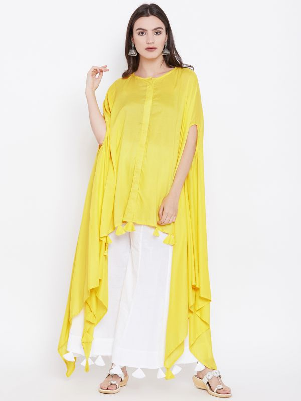 8-neck-designs-for-kurtis-Poncho-Or-Kaftan-Style-Kurti