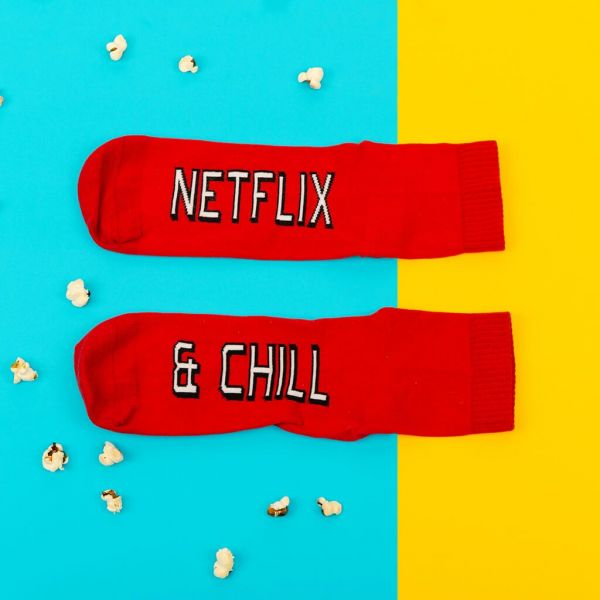21 valentine's day gift for boyfriend - Netflix   Chill Socks