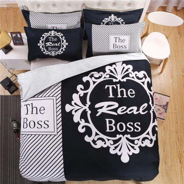 26 valentine's day gift for boyfriend - The Real Boss Bed Set