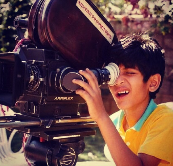 rana daggubati - childhood photo-camera