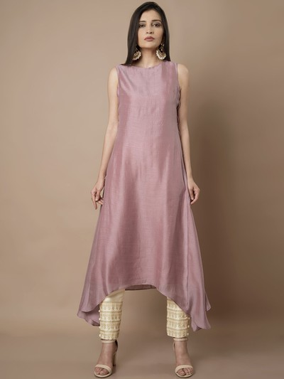 neck-designs-for-kurtis-Asymmetric-Kurti