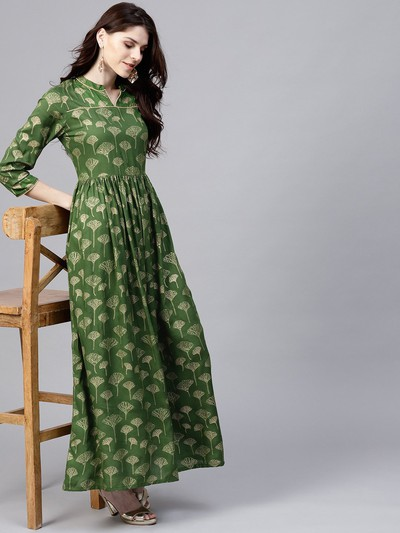 neck-designs-for-kurtis-Kurta-Dress