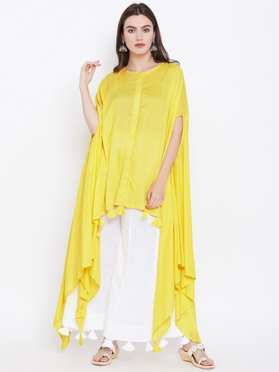 neck-designs-for-kurtis-Poncho-Or-Kaftan-Style-Kurti