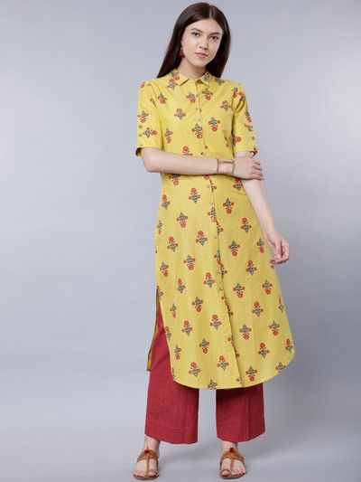 neck-designs-for-kurtis-Shirt-Style-Kurti
