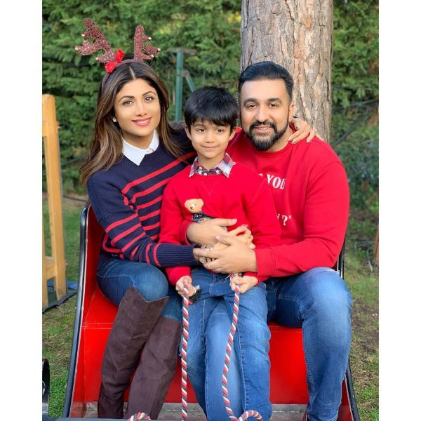 Bollywood Christmas- Shilpa shetty family
