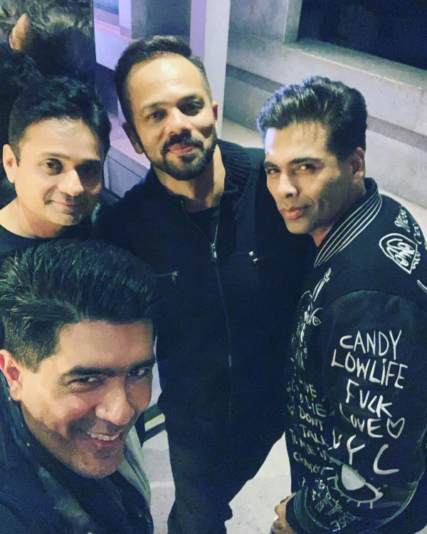 Simmba Success Party- The team and Mish malhotra selfie