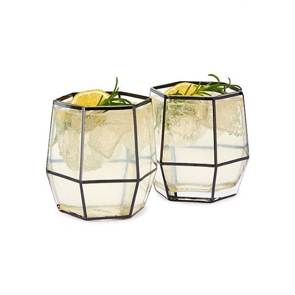 15 gifts for him - Geo Cocktail Glasses - Set of 2
