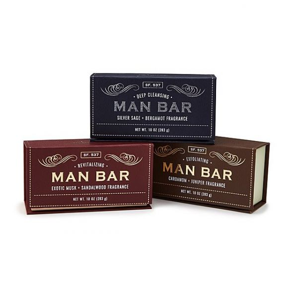 16 gifts for father - Man Bar Soap Set of 3