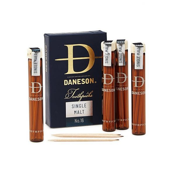 34 gifts for father - Scotch-Infused Toothpicks Gift Set