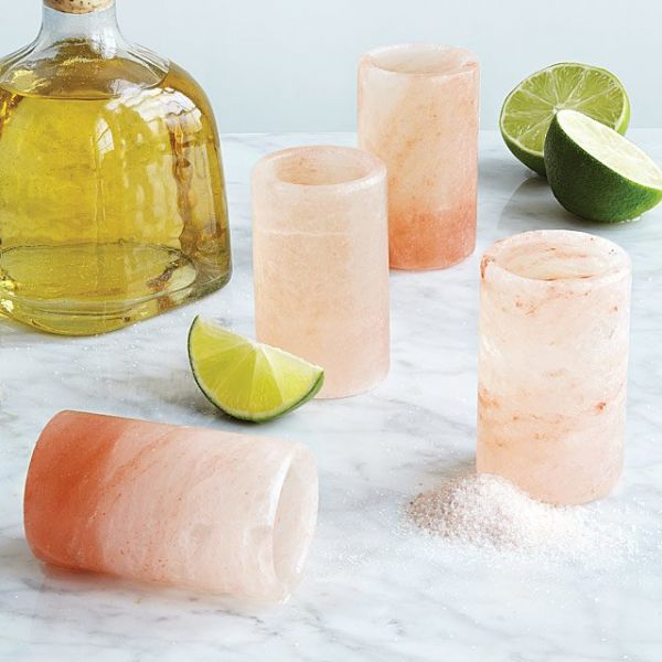 35. gifts for father - Himalayan Salt Tequila Glasses - Set of 4