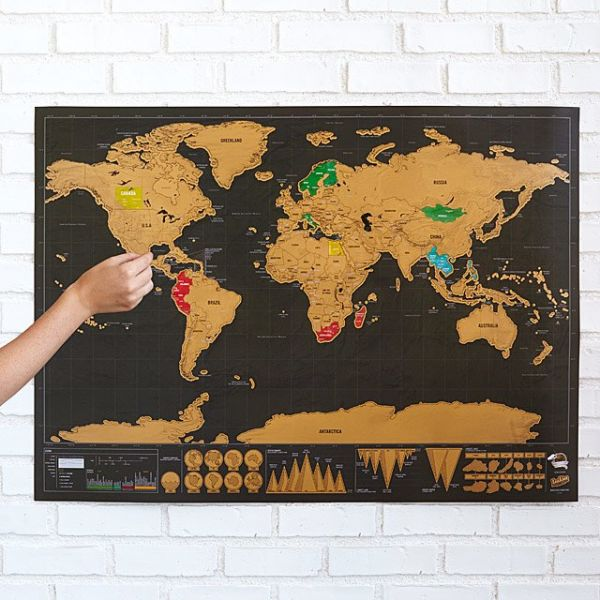 42 gifts for father - scratch map