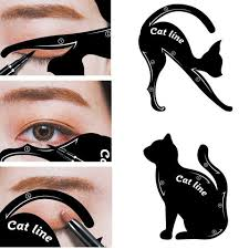 makeup product toss throw eyeliner stencil