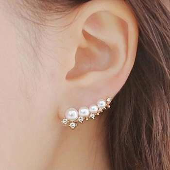 silver-needle-simulated-pearl-ear-cuff-earrings
