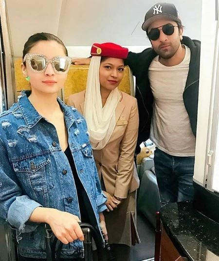 Ranbir Alia flight